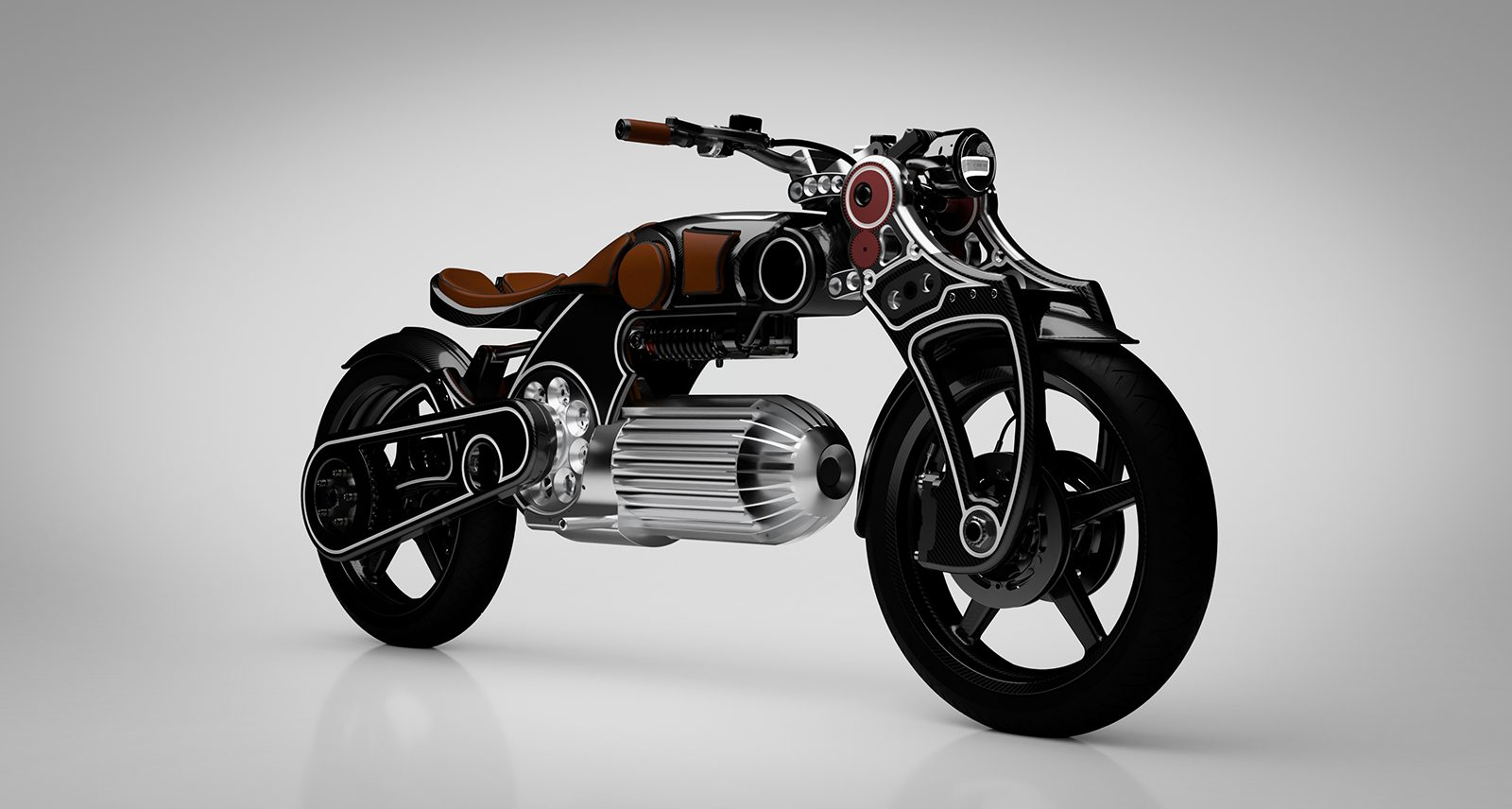 This Pistol-Shaped Curtiss Electric Motorcycle Was Inspired By Miles Davis