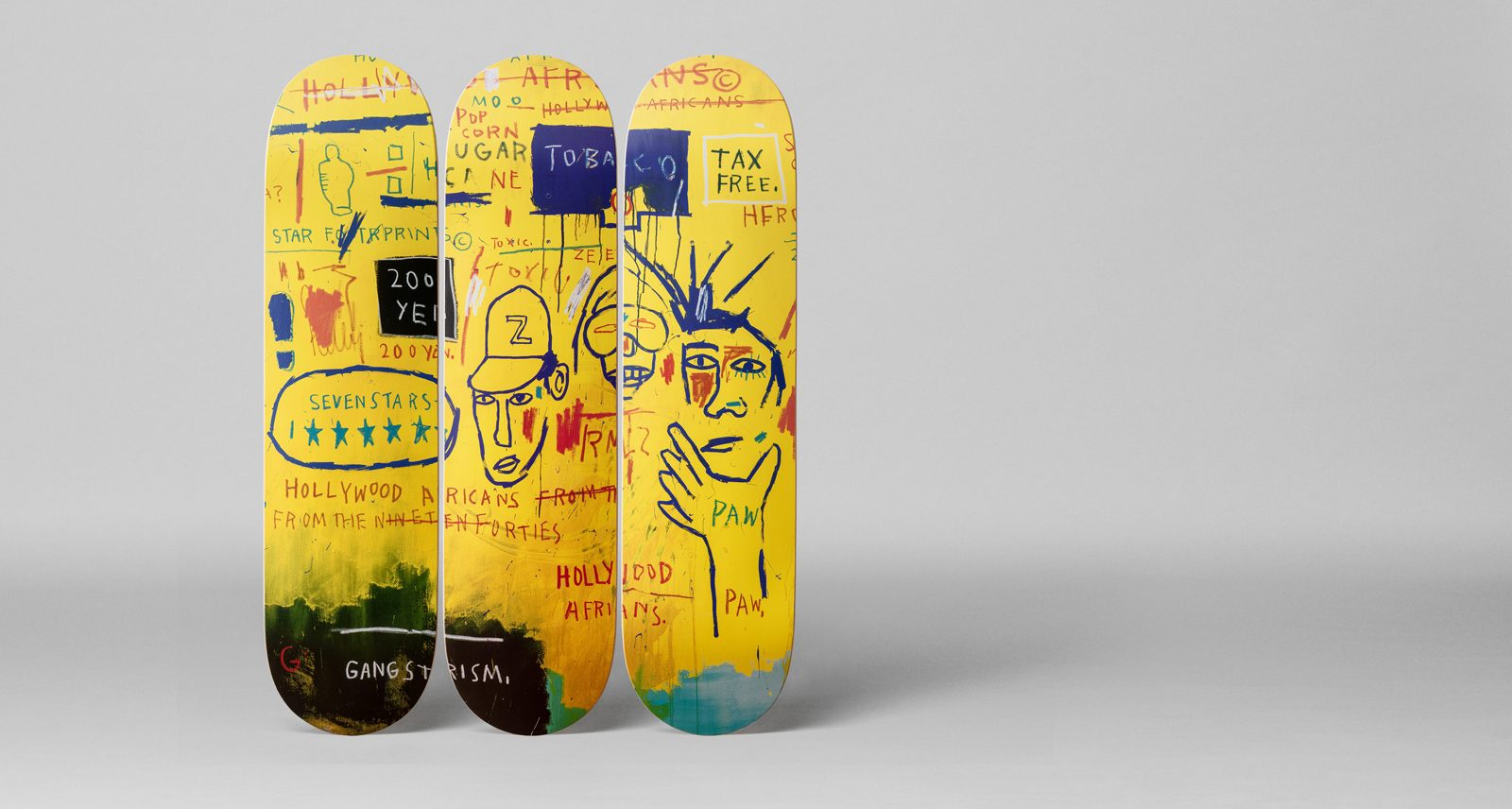 These Jean-Michel Basquiat Skateboards Are Paintings You Can Kickflip