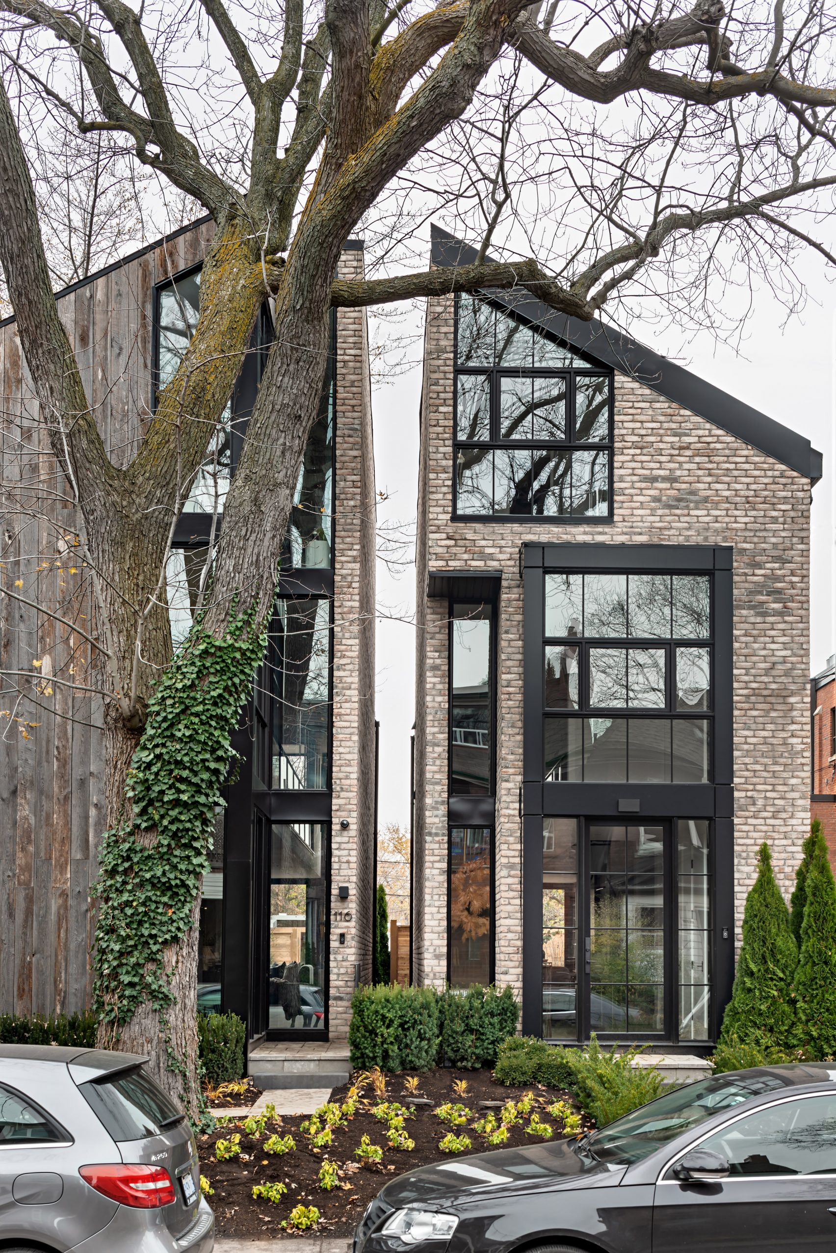 Ancerl Studio separates twin Toronto townhouses with a slender gap - This Is What We Are Reading For You