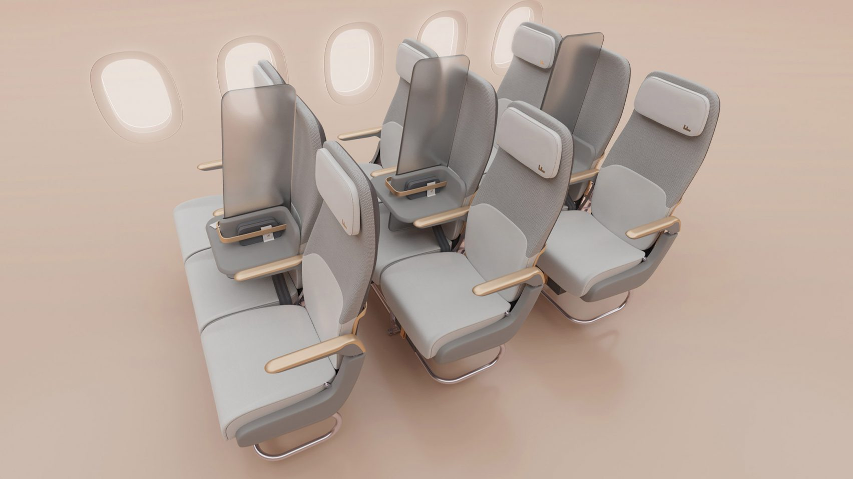 Factorydesign proposes Isolation screen for social distancing on planes - This Is What We Are Reading For You