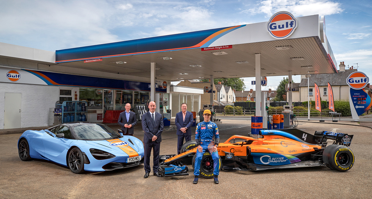 Gulf partners with McLaren to announce multi-year partnership covering Formula 1 and luxury supercars