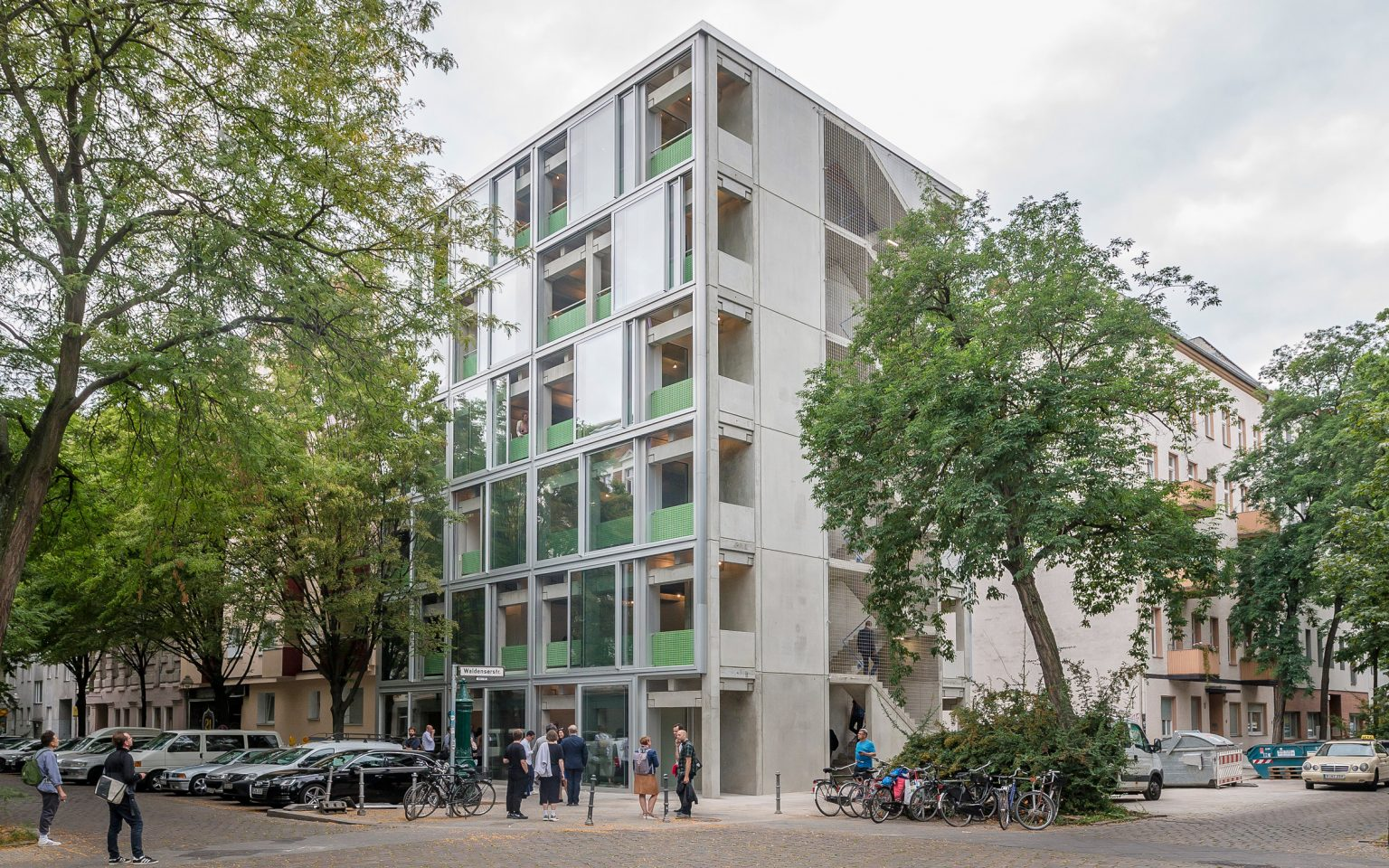 Wohnregal is a prefabricated concrete live-work apartment block in Berlin