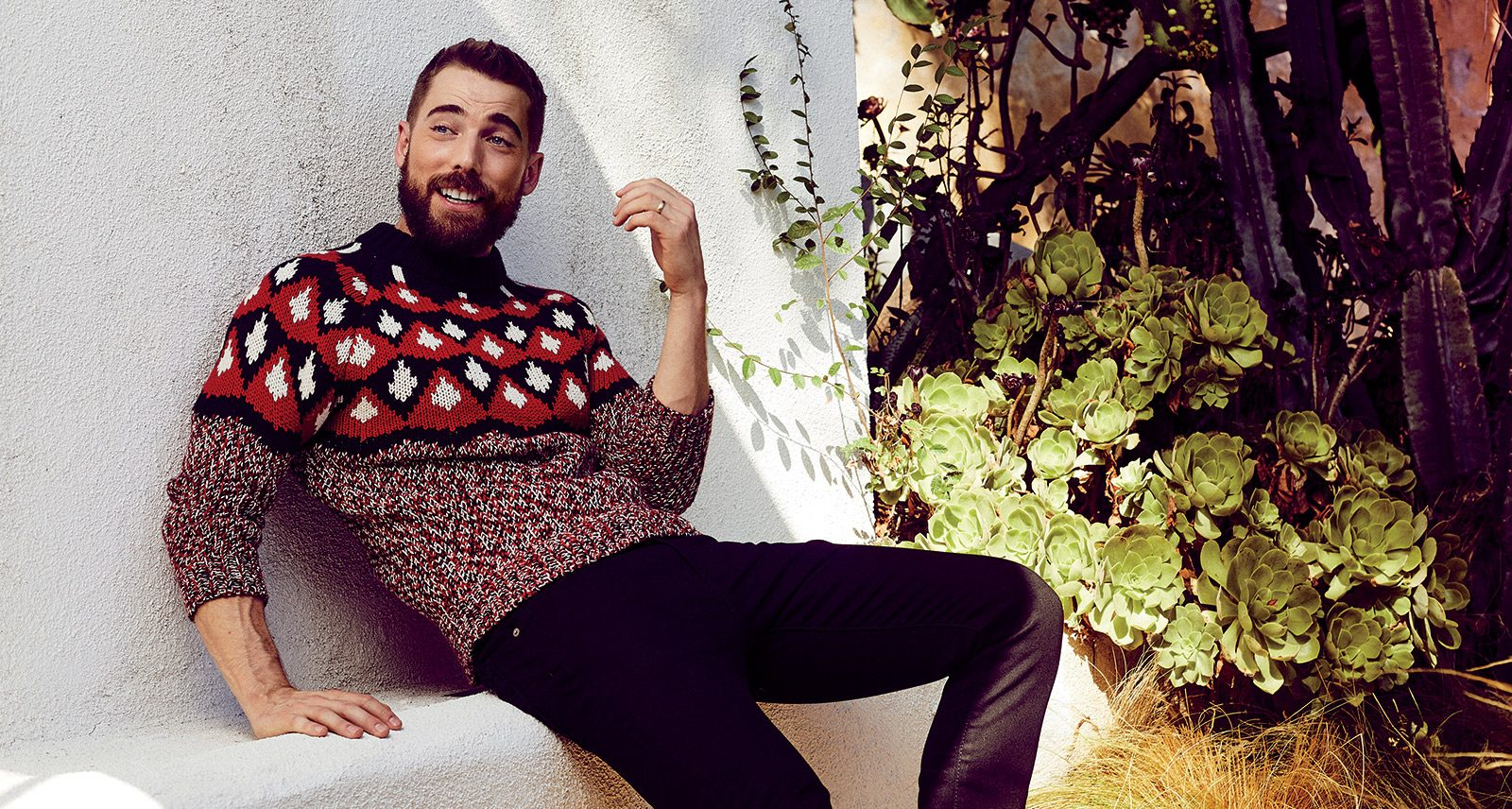 Schitt's Creek Star Dustin Milligan Leans In to Cold Weather Style
