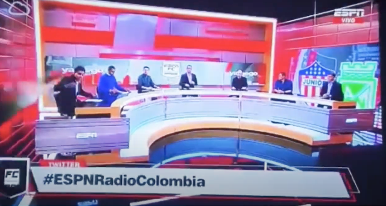 Journalist Gets Crushed By Giant Screen During Live Broadcast On ESPN Radio Colombia