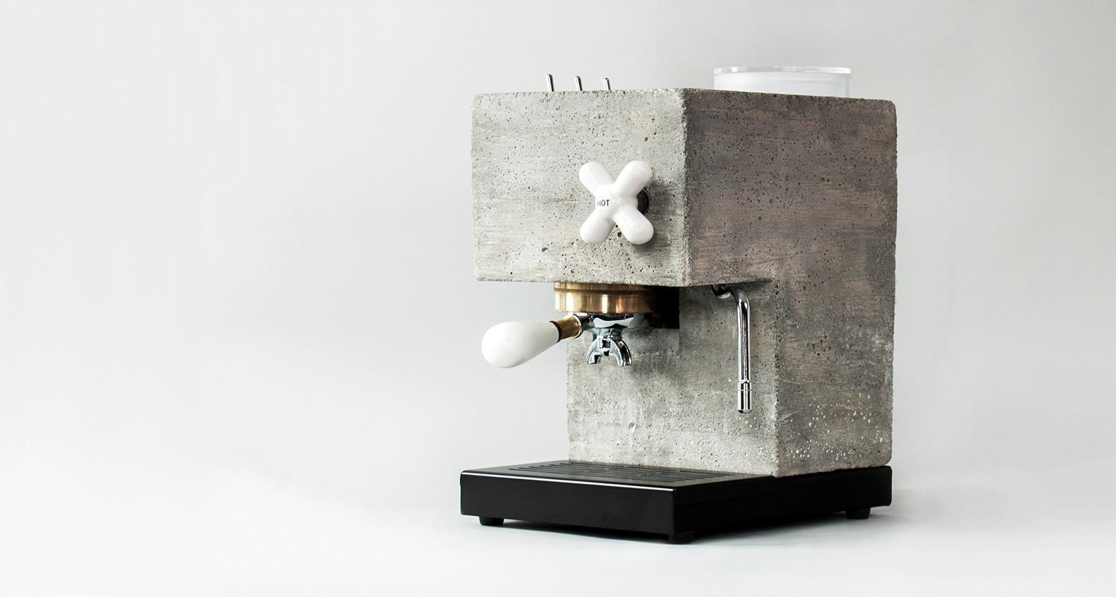 This Concrete Espresso Machine Is Pretty Solid