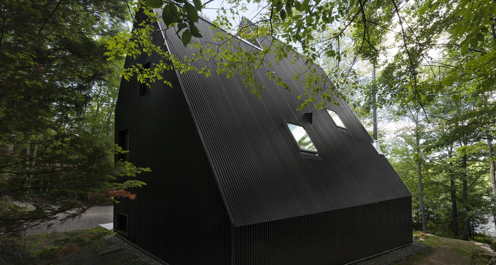 This Breathtaking Modern Cottage Is Hidden Deep in a Quebec Forest