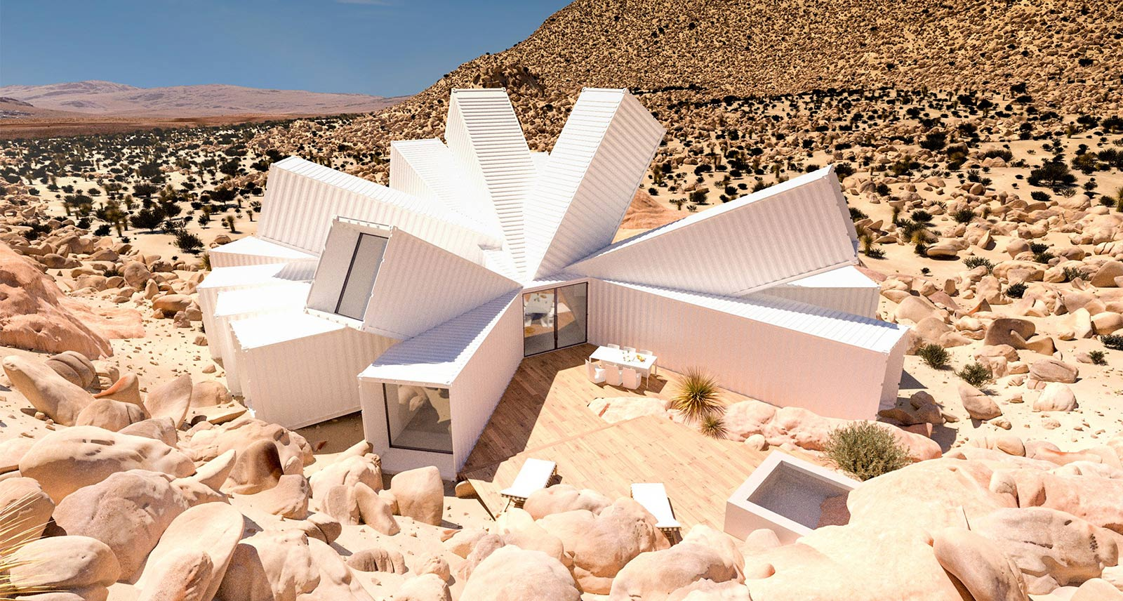This Shipping Container Home in the Desert Looks Like a Hunter S. Thompson Acid Trip